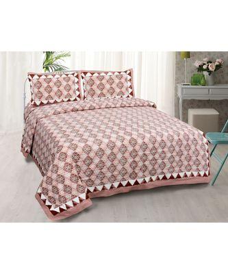 Traditional Delight Maroon Double Bedsheet