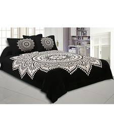 Big Rangoli Print Black & White Bedsheet