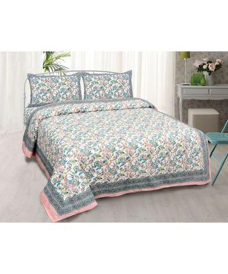 Fantastic Flowers Colorful Double Bedsheet