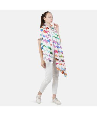 Bali Hai by Pashma Multi abstract print design scarf