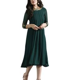 Green printed Georgette kurti