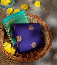 Traditional Kanchipuram Saree With Weaving Blouse