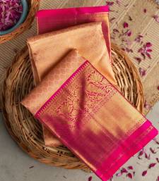 Traditional Kanchipuram silk Saree With Weaving Blouse