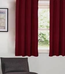 Plain Solid Blackout Burgundy  Window Curtain