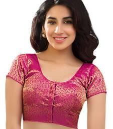 pink brocade readymade-blouse