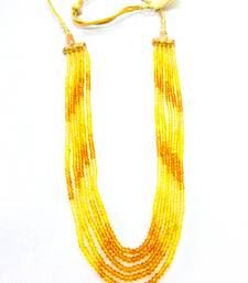 Buy Yellow Sapphire Look Shaded Strand Necklace online