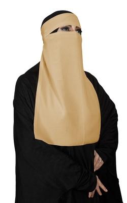 JSDC Women Daily Wear Bubble Georgette Plain Single Layer Niqab Nosepiece Hijab