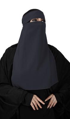JSDC Casual Wear Georgette Plain Single Layer Niqab Hijab