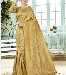 Golden brasso silk saree with blouse