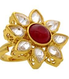 Buy Adjustable Antique golden big rings Ring online
