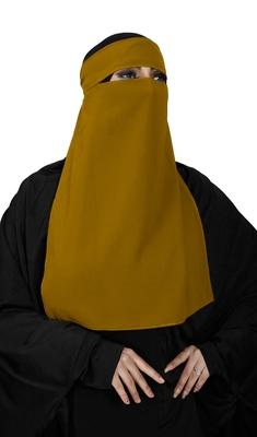 JSDC Women's Bubble Georgette Plain Single Layer Niqab Hijab