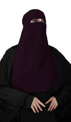 JSDC Women's Bubble Georgette Occasional Wear Plain Single Layer Niqab Hijab