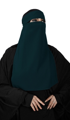 JSDC Women's Occasion Wear Georgette Plain Single Layer Niqab Hijab