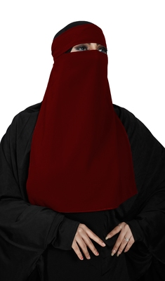 JSDC Women's Festive Wear Single Layer Georgette Niqab Nosepice
