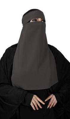 JSDC Women Bubble Georgette Plain Single Layer Niqab Nosepiece Hijab
