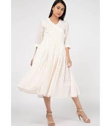 White Yellow Dot Dress
