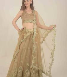 Rina Dhaka golden floral all over gotta work detail with blouse and duppata