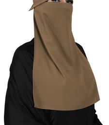JSDC Women Occasion Wear Bubble Georgette Plain Single Layer Cap Niqab Nosepiece Hijab