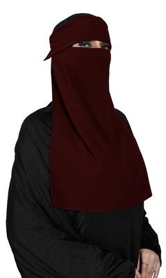 JSDC Women's Bubble Georgette Festive Wear Single Layer Niqab Parda