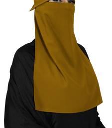 JSDC Women's Georgette Plain Single Layer Cap Niqab Nosepiece Hijab