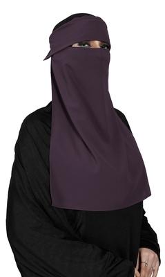 JSDC Women Bubble Georgette Daily Wear Plain Single Layer Cap Niqab Nosepiece Hijab