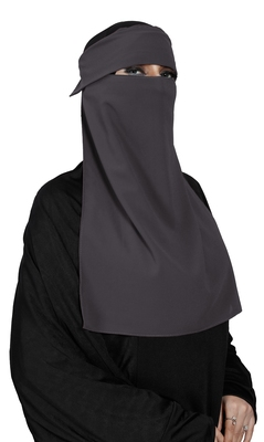 JSDC Women Bubble Georgette Casual Wear Plain Single Layer Cap Niqab Nosepiece Hijab
