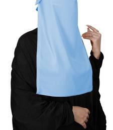 JSDC Women Bubble Georgette Occasion Wear Plain Single Layer Cap Niqab Nosepiece Hijab