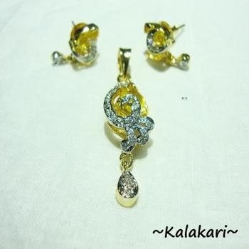 ''Yellow Topaz'' Cz Diamond Locket 2