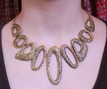 Hollow Gold Designer Neckpiece