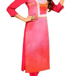pink crepe rayon party wear kurtis