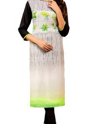 white crepe rayon party wear kurtis
