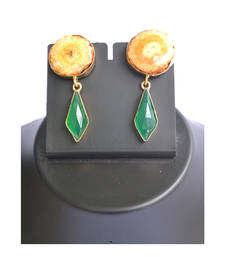 Buy Yellow- green earrings gemstone-earring online