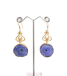Buy Lapis danglers gemstone-earring online