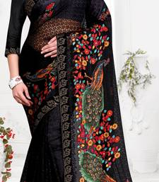 chitrakshi designer peacock brasso saree with blouse piece
