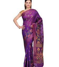 Buy Purple woven cotton silk saree with blouse cotton-silk-saree online