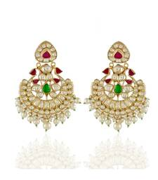 royal vintage ahemdabadi kundan chand bali earring