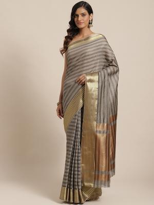 black woven dupion silk saree with blouse