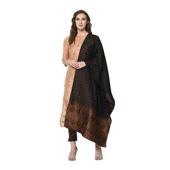 peach Elora Cotton Jacquard Salwar Suit Unstitched Dress Material for Women