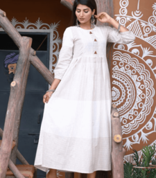 Cream Colored Cotton Slub Kurta