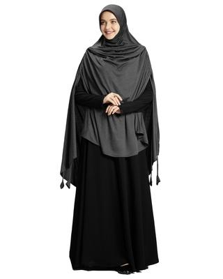 Mehar Hijab Women's Modestly Stylish Ulema Drip Drop Hijab Grey