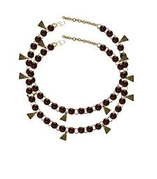 Copper Stone Stud-Gold Platted Brass Anklet