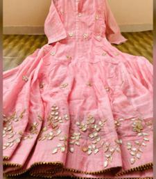 Pink Colored Gotta Work Rayon Full Length Dress