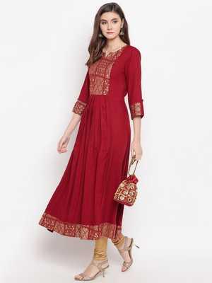 red printed  kurti