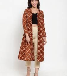 Indibelle Brown printed cotton cotton-tops