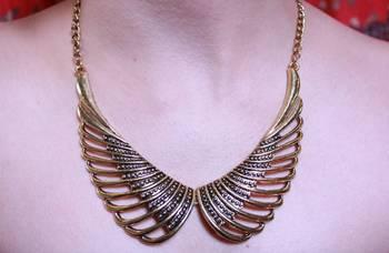 Bronze Angel Wings Neckpiece