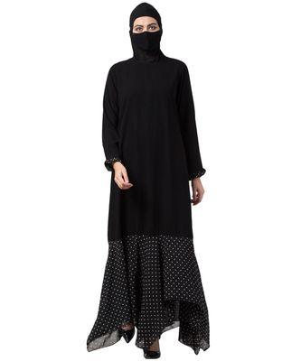 Musheco Modest Dress With Polka Dot Frills