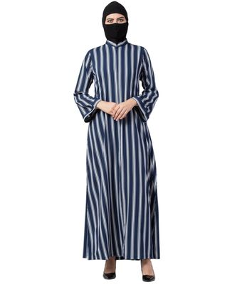 Musheco Modest Dress In Stripes