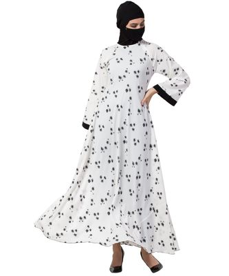 Musheco Beautiful Dress In Black & White Print