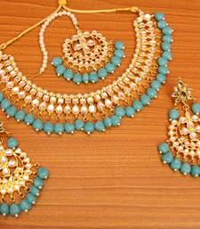 Turquoise crystal necklace-sets