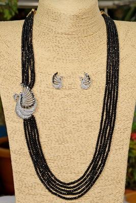 Black onyx necklace-sets